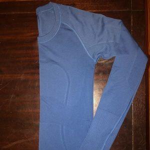 Lululemon Swiftly Tech LS Shirt Size4 Bright Blue